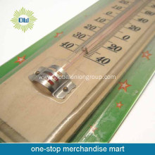 Promotional wall hanging type glass thermometer