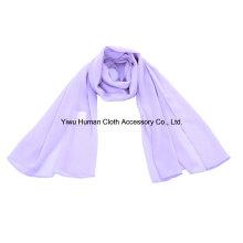 Bufanda larga 100% Polyester del color sólido de Wrapables
