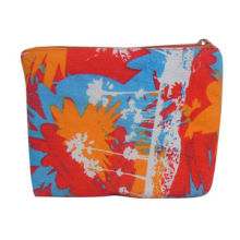 Cosmetic bag with allover embroidery, special shape and excellent quality