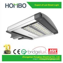 Lumière de rue super lumineuse de haute qualité 60W ~ 90W Bridge LED Chip au-dessus de IP65 Lampe extérieure à l'extérieur imperméable en aluminium