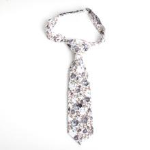 Corbata flaca del bebé del estampado de algodón floral