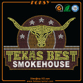 Texas Best Smoke house rhinestone transfer design