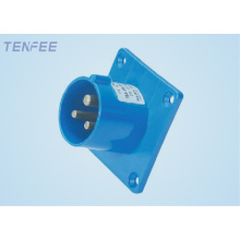 panel mounted plug 2P+E IP44