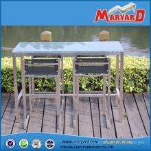 Простой стиль нержавеющая сталь бар стул мебель с сеткой Farbic