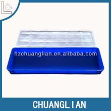 clear plastic packing crates