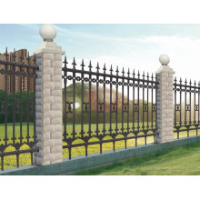 Montaje en polvo de acero galvanizado valla comercial