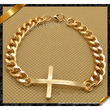 Fashion Cross Gold Bracelet Chunky Chain Bracelet, Friendship Bracelet (FB059)