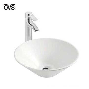 Ванная Комната Дизайн Круглый Керамический Тазик В Ванной Комнате Раковина