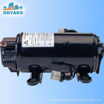 Compresor de 12/24v aire acondicionado HVAC DC para cabina de camión durmiente minería máquina del gancho agarrador del excavador