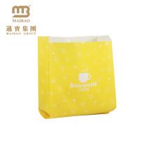 Wholesale Custom Kraft Paper Bakery Bread Packaging Small Wax Coated Paper Bags Food