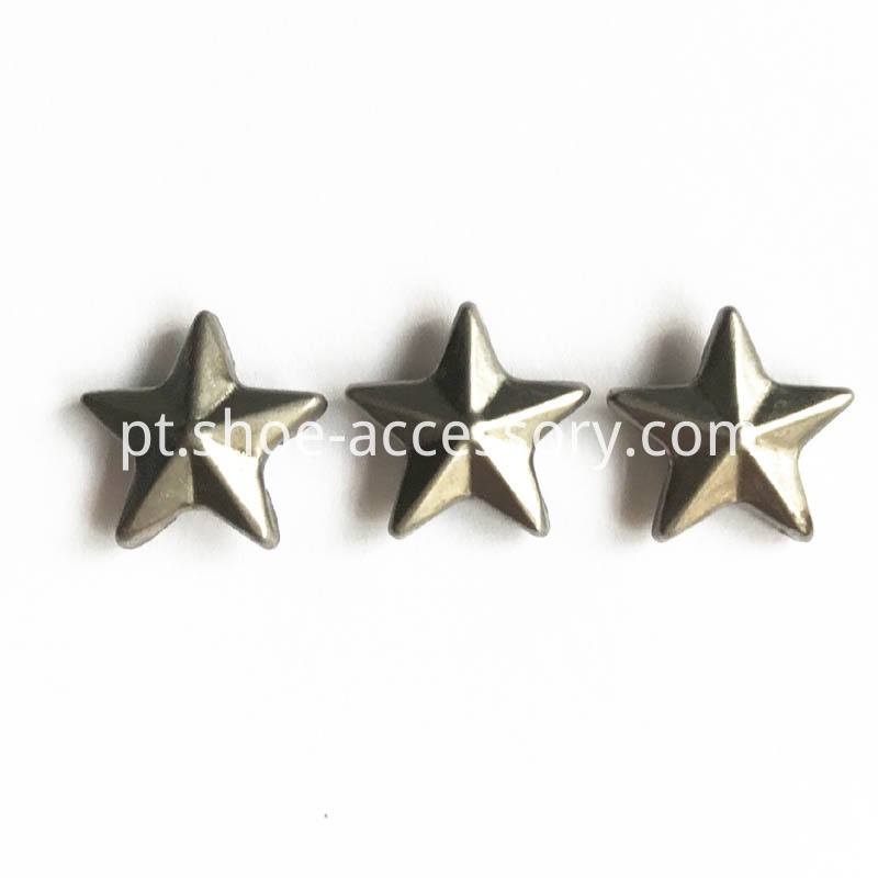 Gun-Metal Star Rivets 12mm