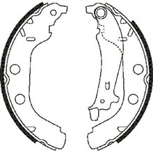Nissan Kubistar X76 brake shoes 440603J325