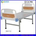 Bestes verkaufendes preiswertes medizinisches flaches Bett mit ABS-Kopf / Fußbrett