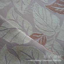 Окрашенная пряжа Жаккардовые Синели ткани с рисунком в виде листьев