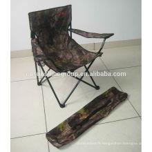 2014 vente chaude camo chaise de camping, camping polyester chaise