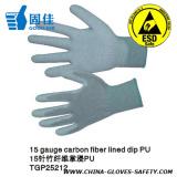 Nylon PU ESD Gloves / Carbon Fiber PU Gloves