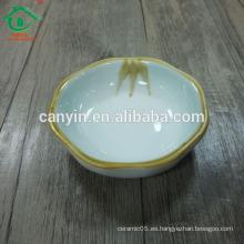 Pequeña cerámica fría salsa de soja plato
