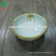 Pequena cerâmica chafing soja molho prato