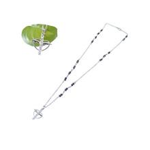 Bling Strass Rosenkranz Kreuz mit Engelsflügel Halskette