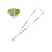 fashion bling crystal cross beaded rosary chain