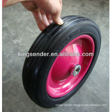 "14"" solid rubber wheel"