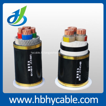 Câble d'alimentation armé de fil d'acier isolé par conducteur de cuivre du conducteur de Hv 26 / 35kv XLPE