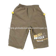 Boy's Casual Pants Made of 100% Polyester Microfiber