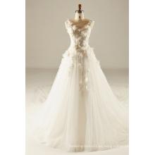 Vestido de boda de la blusa de la flor 3D