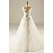3D Flower Bodice Wedding Gown