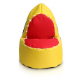 600D yellow shark bean bag for children