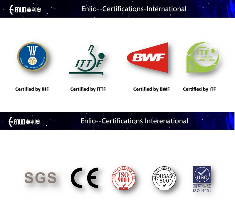 certificates of Enlio sports