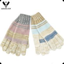 2016 Новая мода трикотажные зимние перчатки пять пальцев