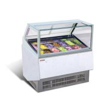 escaparate de exhibición comercial de congelador de puerta de vidrio