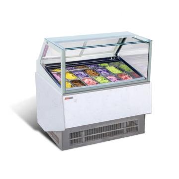 escaparate de exhibición de refrigerador de helado