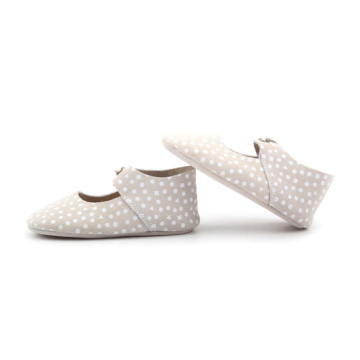White Dots Genuine Leather Baby Shoes Oxford