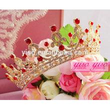 Красные аксессуары для волос принцессы детские тиары и короны дешевые