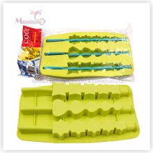 Molde Popsicle-Dado forma personalizado do gelo, bandeja do cubo de gelo do silicone
