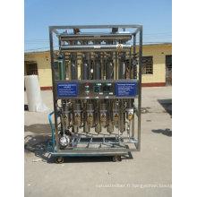 Machine à distiller tubulaire à eau injectable