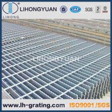Negro serrado reja de acero para piso ISO9001 empresa