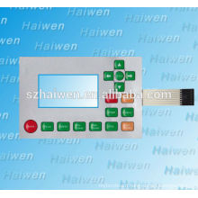 diy waterproof/UV resistance Screen Printing PET/PC membrane keypad panel, custom plano convex lens nameplate