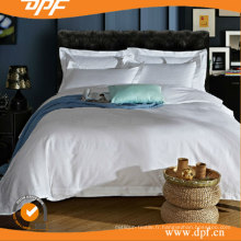 Housse de couette blanche en satin d'hôtel de coton (DPFB8055)