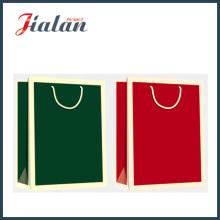 Бумажная сумка с бумажной сумкой из цельного цвета с глянцевым ламинированным покрытием