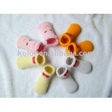 Meias de algodão bebê / sapatos de algodão para bebês