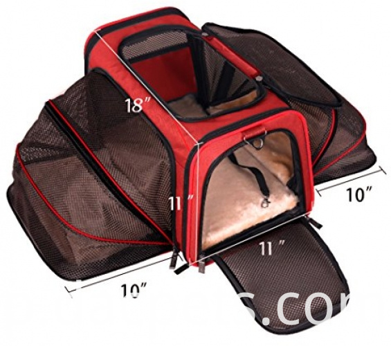 Foldable Expandable Travel Dog Carrier