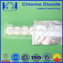 Comprimidos efervescentes del cloro de la materia prima química China fabricación