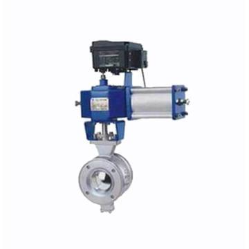 Pneumatischer Kugelhahn mit V-Anschluss / Reguliertyp (VQ670F)