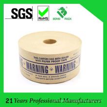 Ruban de papier renforcé par fibre de verre de Pilfer Proof imprimé par logo fait sur commande