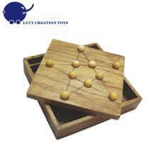 Wooden Star Solitaire Brettspiel