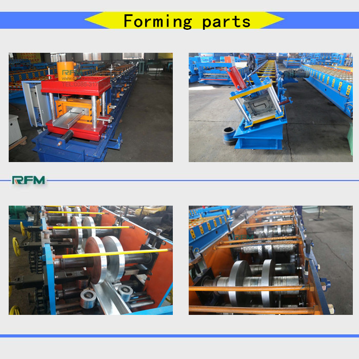 steel section purlin making machine