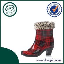 wholesale women pvc high heel rain boots